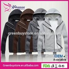 2014 Newest Coat Down Quilted Double Hoodie/Zip Jacket