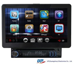 2014 HOT ! NEW ! Big screen 10.1 inch universal 1 DIN detachable motorized Car DVD Player China OEM factory