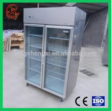 Energy saving fan cooling refrigerator stainless steel fridge