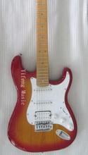 2014 Electric Guitar Cherry burst Finished Custom Design