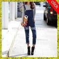 calças palazzo importação jeans denim macacões para as mulheres