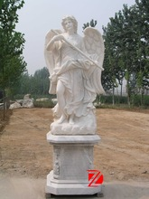 Marble Big Wing Angel Michael Statue