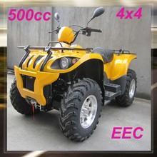 Wholesale yellow 4x4 500cc atv