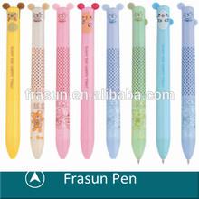 Ear Shape Push Button Carton Pen,Fine Point Multicolor Pen