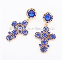 Beautiful Jewelry Custom Cross Earrings Filled with Flowers Fashion lady's earrings luxury Popular accessories