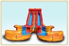 Latest Popular Color Giant Fire N' Ice Inflatable Water Slide for Adult