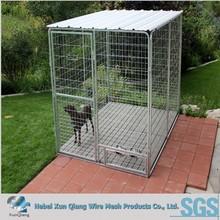 outdoor galvanized steel dog kennel
