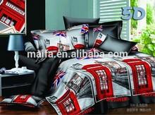 London building 3d printed silk bedding