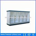 multi deck supermarket solar refrigerator freezer with glass sliding door
