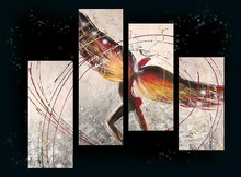modern abstract group canvas art for bar