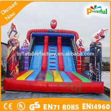 super man slide/inflatable spiderman slide for rental