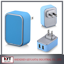 Charger to plug into USA wall plug to attached to USB 2.0A cable for cell phone charging with all kinds of plugs
