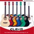 guitarra acústica de madera de colores
