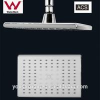 square plastic chrome water saving low flow shower head