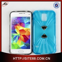 Hot selling jeweled Double diamond TPU fancy cell phone cover case for samsung galaxy s5