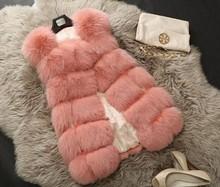 z62328w europea fashion ladies fox fur vest