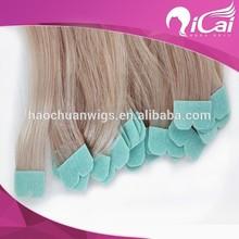 2014 Top sale blonde Russian hair M shape microTape hair extension