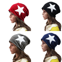 Men Women Xmas Warm Winter Popular Unisex Star Hip-Pop Caps Beanie Knit Ski Hats