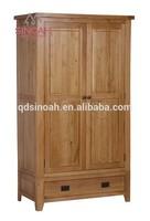 306 rustic style natural oak gent wardrobe / bedroom furniture