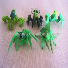 animal world plastic toy grasshoppers/bulk plastic animal toys/plastic small insects toys