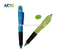 Multi function ballpen,plastic ballpoint pen with highlighter pen