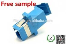 100% optic test sc plastic body metal shutter fiber optic adaptor