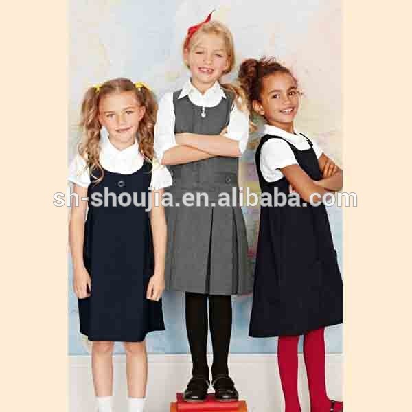 Uniforme scolaire tablier, Coton robe chasuble enfants