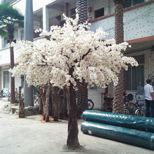 artificial white cherry flowering flower artificial trees decoration yard style artificial cherry