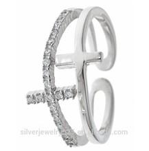 double sideways cross ring adult power ring, maltese cross ring