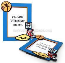 basketball theme photo frame home decoration,erect sport desgin photo frame