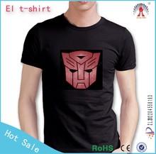1000 designs logo custom led t shirt super brightness el t shirt music activated led t shirt