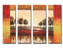oil painting autumn landscape of tree painting canvas