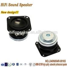 HiFi sound New design 40MM 4OHM 5W High quality subwoofer speaker driver for bluetooth speaker