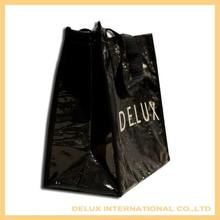 Environmental black pp non woven shopping bags