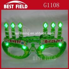 Happy birthday flashing Red blu Green pink LED flashing glasses