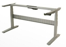 Sit and stand height adjutable desk and frame