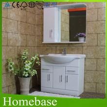 5mm Silver Mirror/Grade A Ceramic Basin/High Gloss Painting outside&inside/Fair Price 15mm MDF Bathroom Vanity