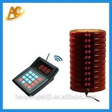Wireless restaurant waiter mm call button