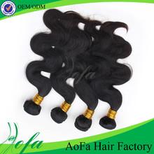 Shedding free unprocessed natural color real soft aofa asian virgin hair