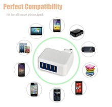 4 Port USB Charger with detachable plug 5V/4200mA reach charging requirements