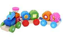 Baby favorite wooden train,Educational combinations train,Wooden multifunction train toy set