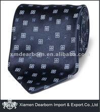 navy printed satin necktie