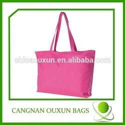logo printed pink custom printed cotton bags