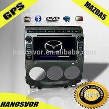 HOT !!! HANOSVOR 2005-2010 MAZDA 5 GPS Navigation Car DVD Player Audio Radio Bluetooth Hand Free Call System