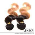 hot selling colored virgin body wave brazilian hair bundles