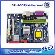 2014 caliente venta de doble núcleo g41 chipset de la placa lga775 ddr3 para el escritorio
