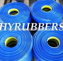 China sale high strength pvc lay flat hose blue