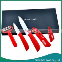 3pcs Zirconia Blade ABS Handle Color Ceramic Non-Stick Knife Set Kitchen
