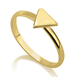 Gold Plated Solid Silver Midi Triangle Ring High Quality 925 Sterling Silver Knuckle Triangle Ring