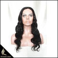Regular human hair none lace front 7A grade brazilian hair machine made wig